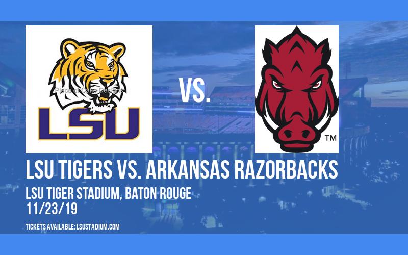 PARKING: LSU Tigers vs. Arkansas Razorbacks at LSU Tiger Stadium