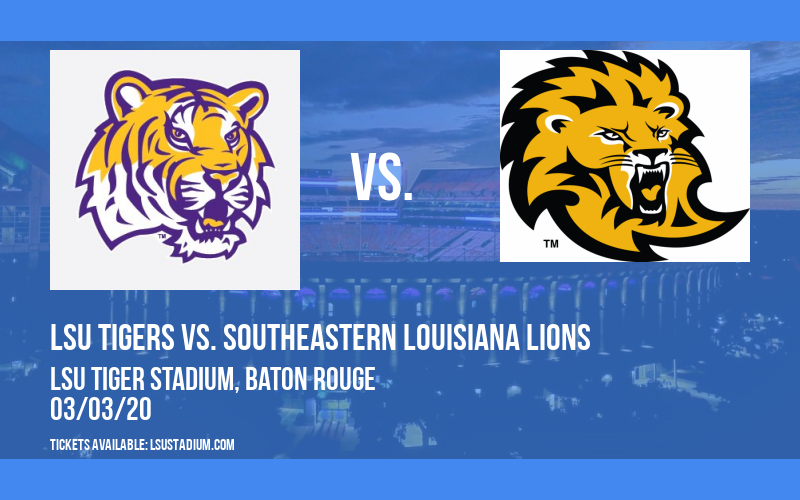 LSU Tigers vs. Southeastern Louisiana Lions at LSU Tiger Stadium
