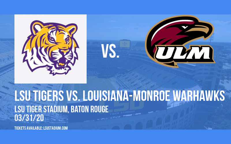 LSU Tigers vs. Louisiana-Monroe Warhawks at LSU Tiger Stadium