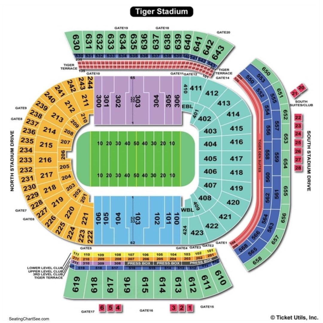 lsu tiger stadium seating chart