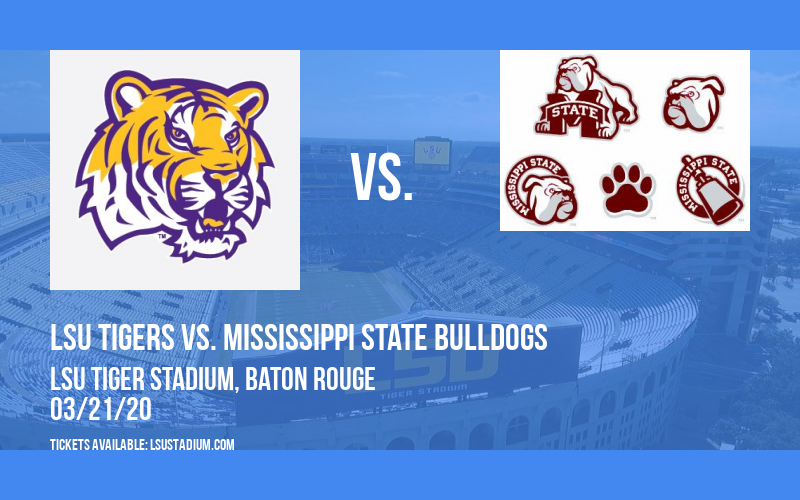 LSU Tigers vs. Mississippi State Bulldogs at LSU Tiger Stadium