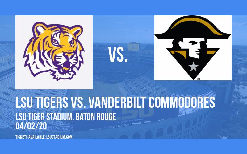 LSU Tigers vs. Vanderbilt Commodores at LSU Tiger Stadium