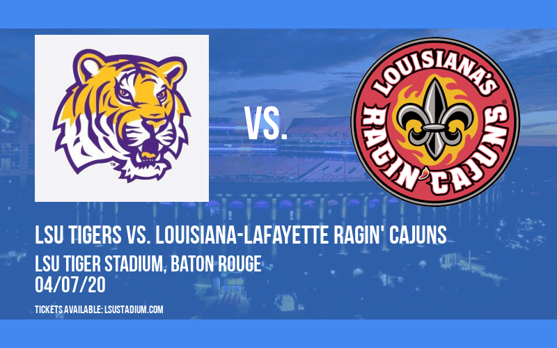 LSU Tigers vs. Louisiana-lafayette Ragin' Cajuns at LSU Tiger Stadium