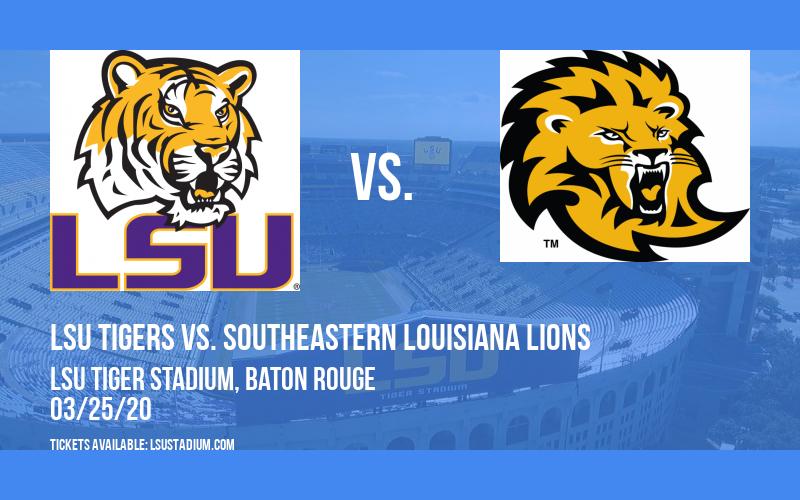 LSU Tigers vs. Southeastern Louisiana Lions at LSU Tiger Stadium