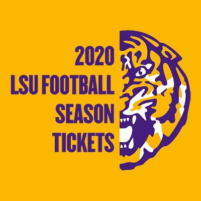 2020 LSU Tigers Football Season Tickets (Includes Tickets To All Regular Season Home Games) at LSU Tiger Stadium