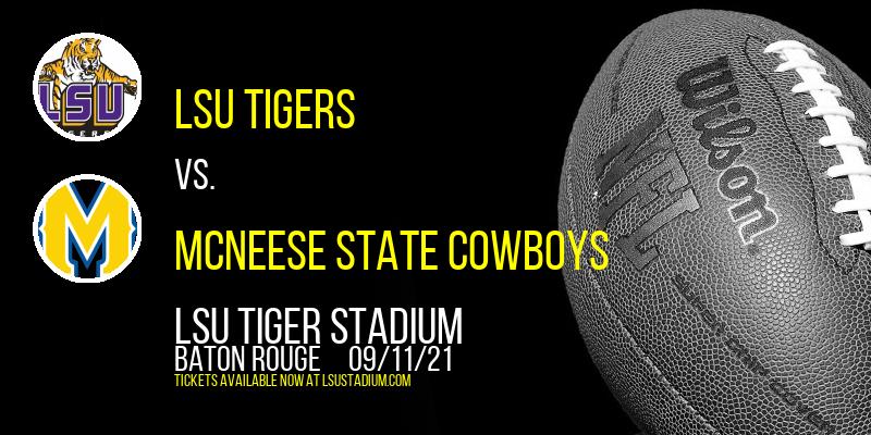 LSU Tigers vs. McNeese State Cowboys at LSU Tiger Stadium